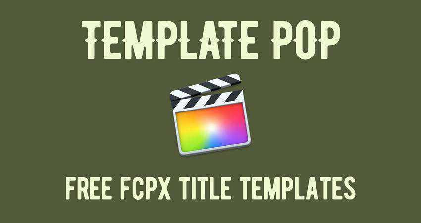 Pop Title free final cut pro fcpx preset template