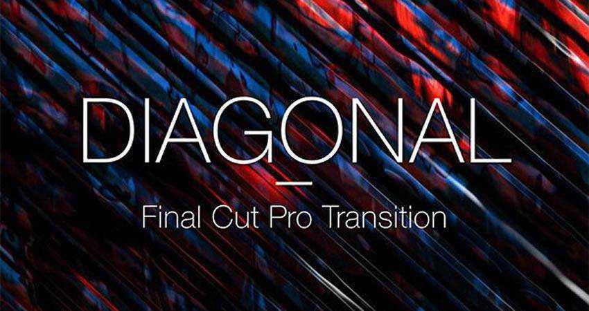 Diagonal Slide Transition free final cut pro fcpx preset template