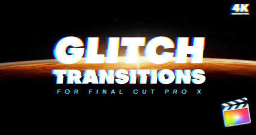 Glitch Transitions free final cut pro fcpx preset template
