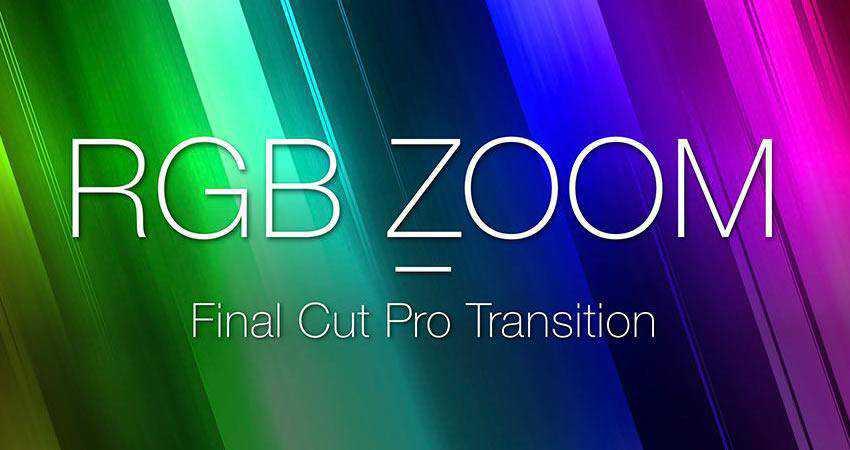 RGB Blur Zoom Transition free final cut pro fcpx preset template