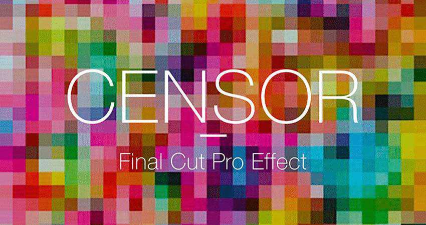 Censor Effect free final cut pro fcpx preset template