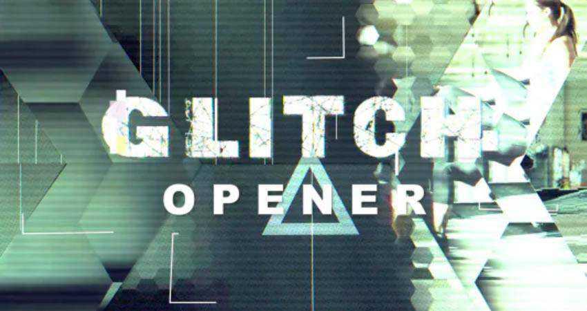 Hexagon Glitch Opener free final cut pro fcpx preset template