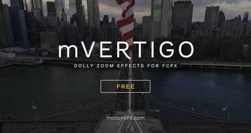 mVertigo Dolly Zoom Effect free final cut pro fcpx preset template