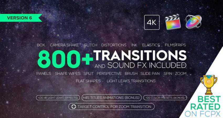Transitions and Sound FX free final cut pro fcpx preset template