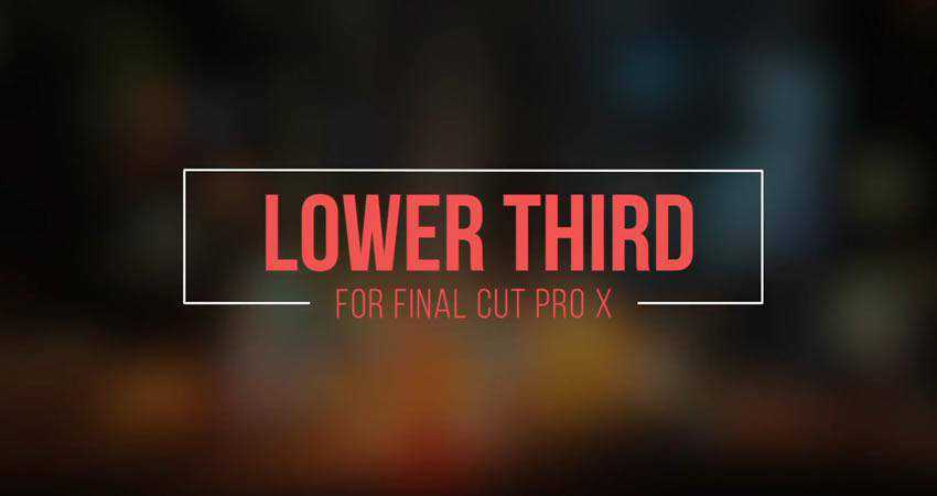 Clean Lower Third free final cut pro fcpx preset template