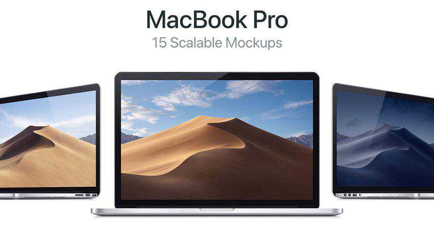 15 Scalable MacBook Pro free macbook mockup template psd photoshop