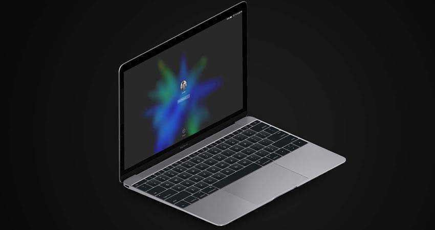 Isometric MacBook iPad free macbook mockup template psd photoshop