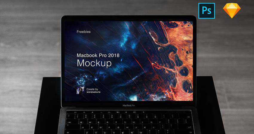 Macbook Pro 2018 free macbook mockup template psd photoshop