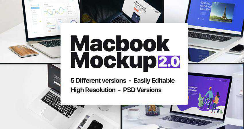 Macbook Mockup 2.0 free macbook mockup template psd photoshop
