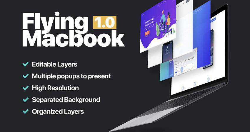 MacBook Mockup 1.0 free macbook mockup template psd photoshop