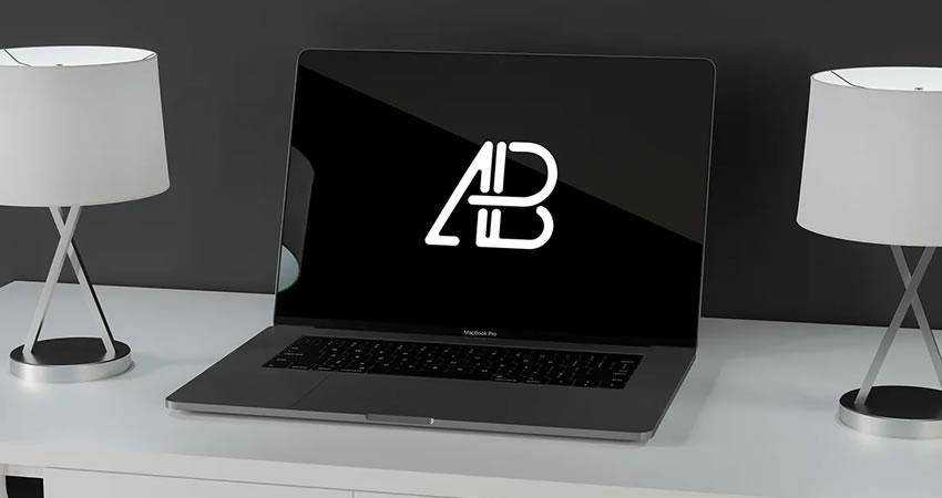 Modern Macbook Pro free macbook mockup template psd photoshop