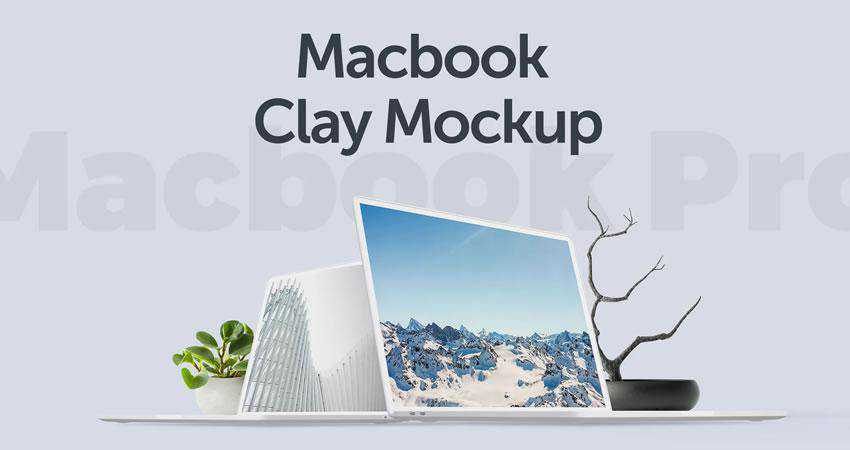 acbook Clay Mockup free macbook mockup template psd photoshop