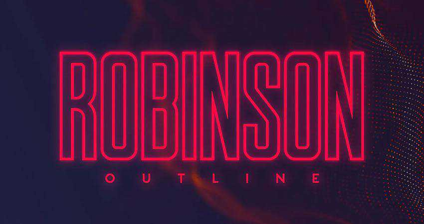 Robinson - free outline font family