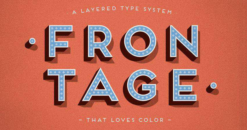 Frontage - free outline font family