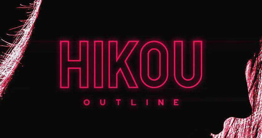 Hikou - free outline font family