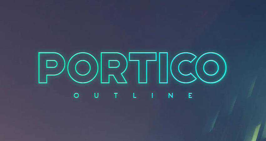 Portico - free outline font family
