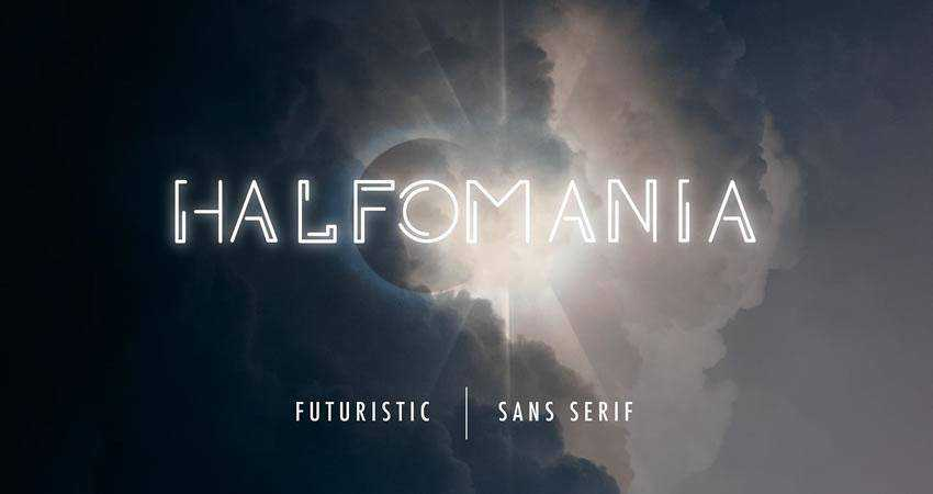 Halfomania - free outline font family