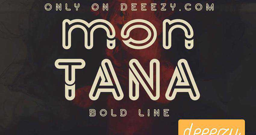 Montana Bold - free outline font family