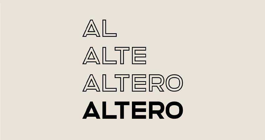 Altero Solid - free outline font family