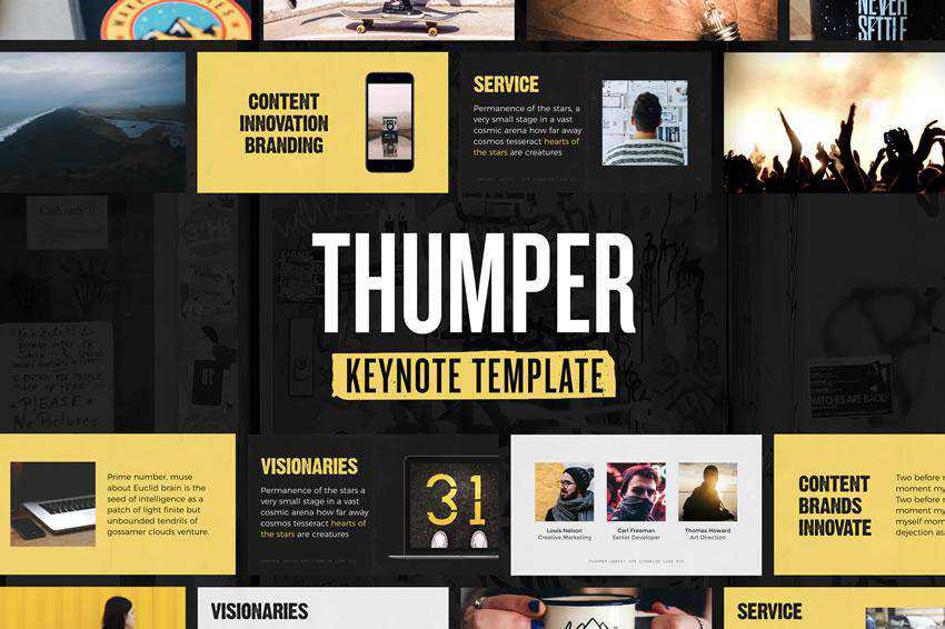 Thumper - free keynote presentation template
