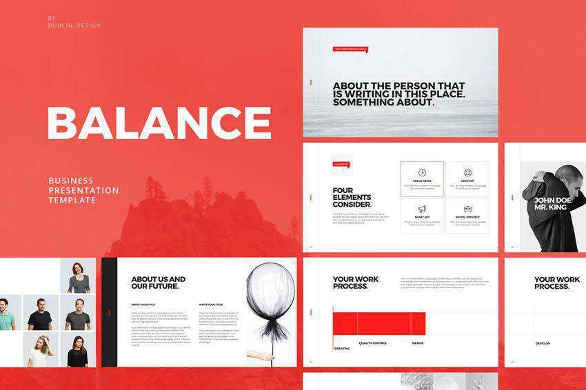 Balance - free keynote presentation template
