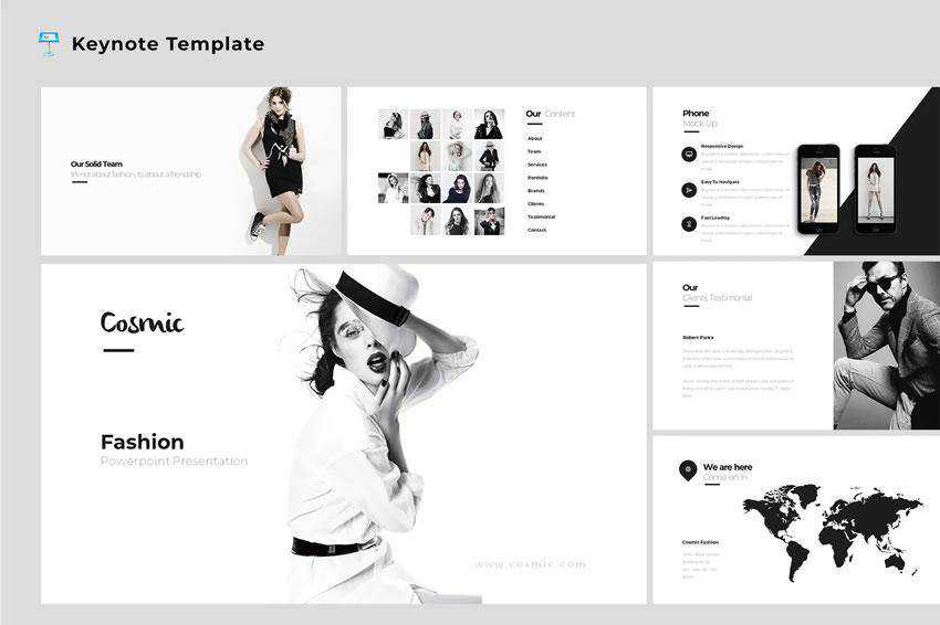 Cosmic Fashion - free keynote presentation template