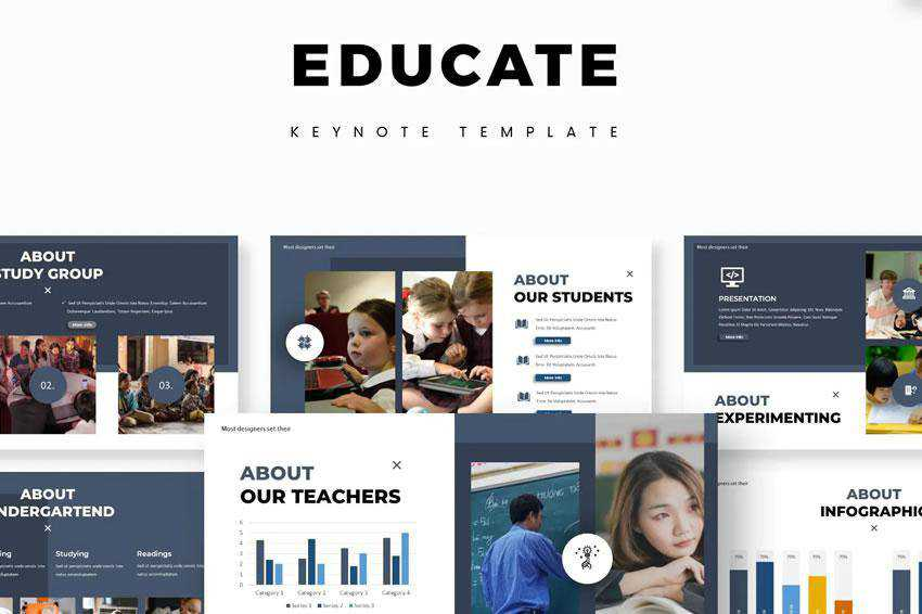 Educate - free keynote presentation template