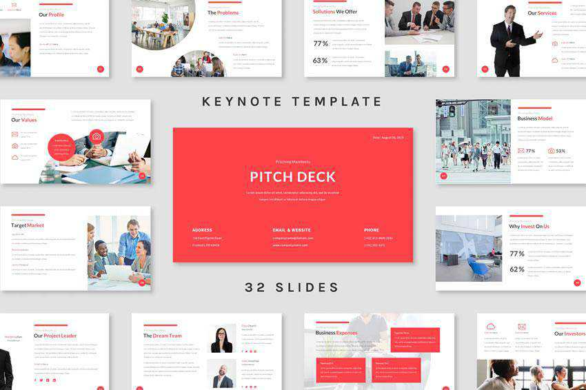Pitch Deck - free keynote presentation template