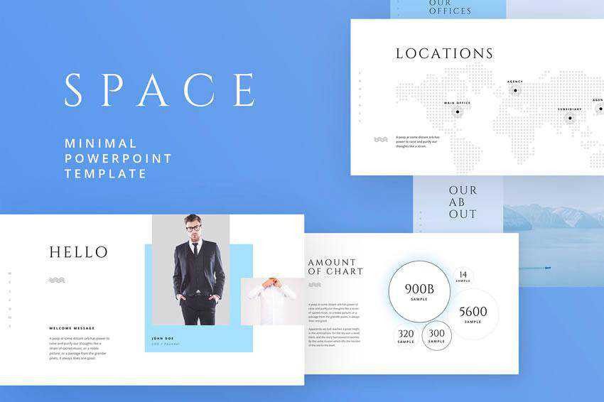 Space - free keynote presentation template