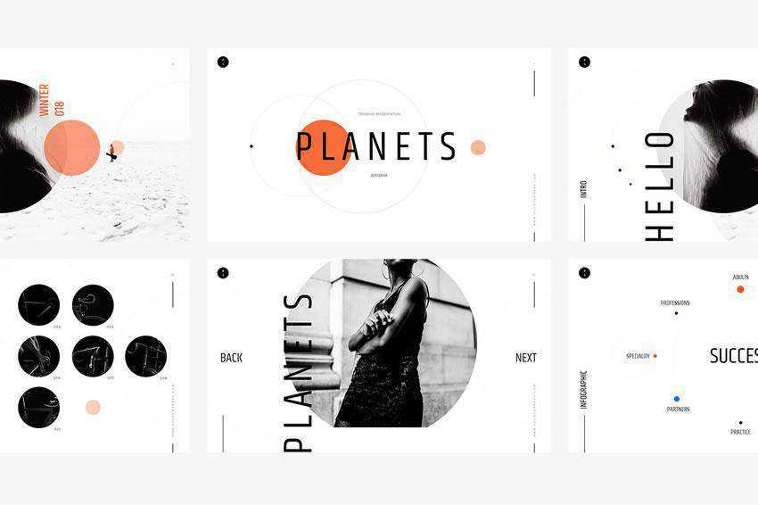 Planets - free keynote presentation template