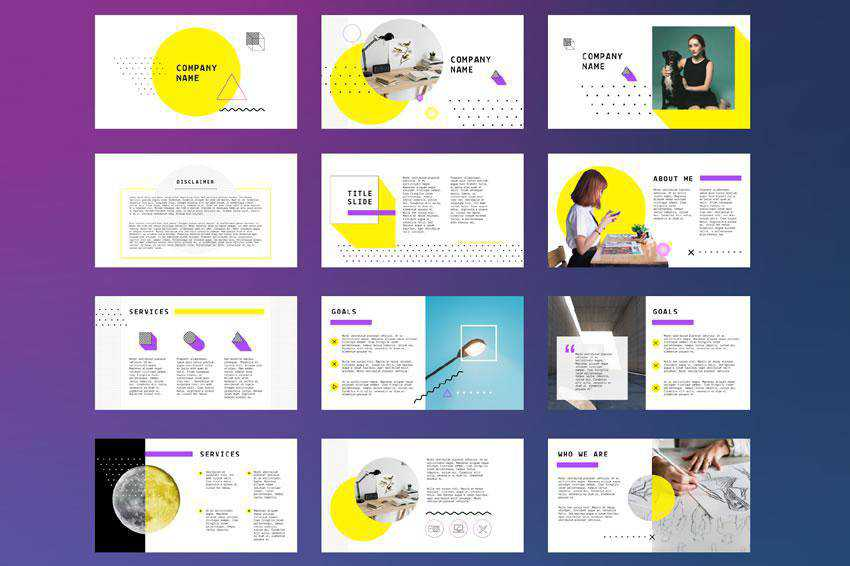 Yellow - free keynote presentation template