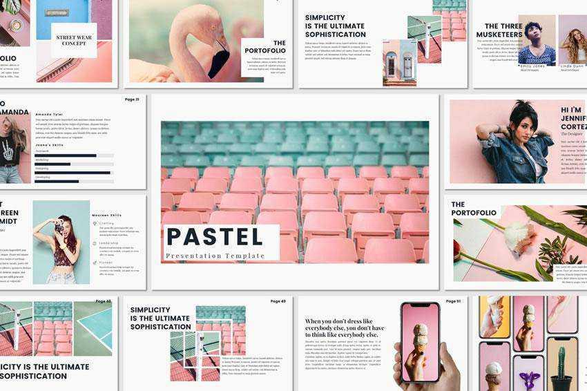 Pastel - free keynote presentation template