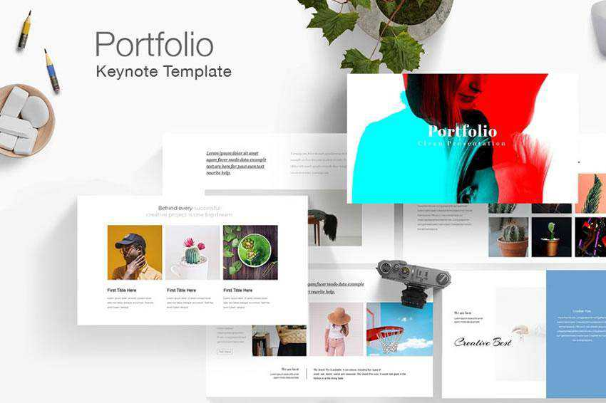 Freepiker Portfolio - free keynote presentation template
