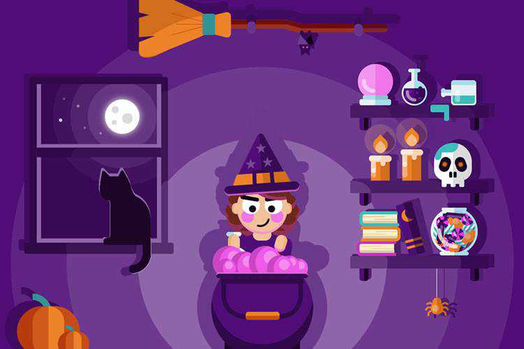 10 Coded Animated Scenes for Halloween Design Inspiration