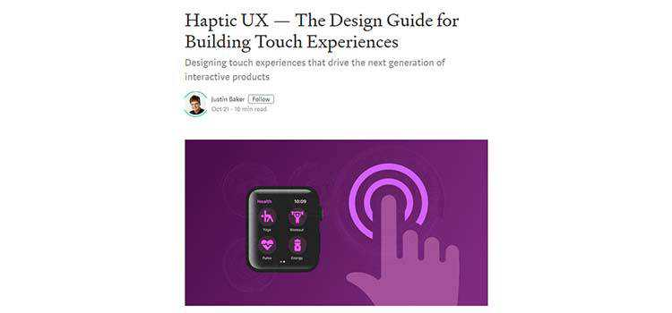 Haptic UX — The Design Guide for Building Touch Experiences