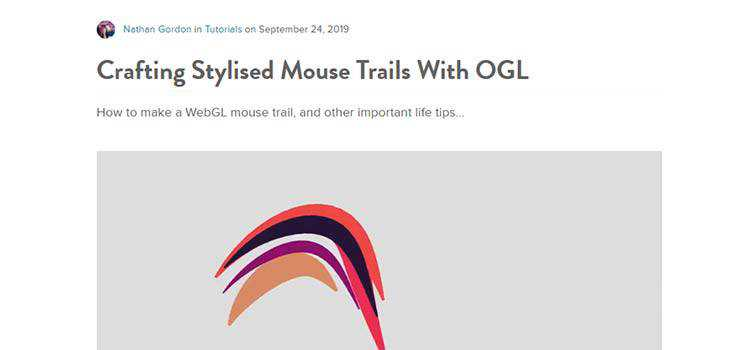 Crafting Stylised Mouse Trails With OGL