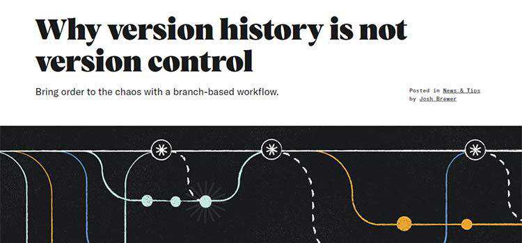 Why version history is not version control