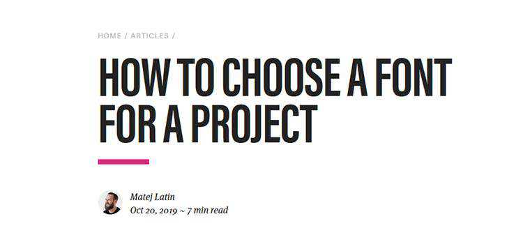 How to choose a font for a project