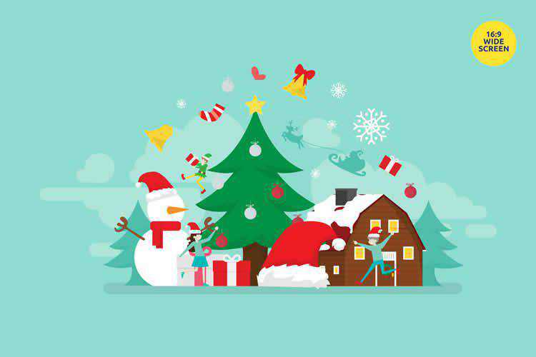 Merry Christmas Vector Illustration Concept