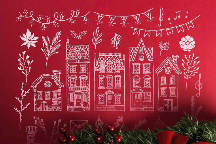 95 Winter Christmas Illustrations