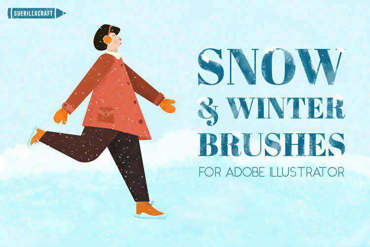 Snow and Winter Brushes for Illustrator