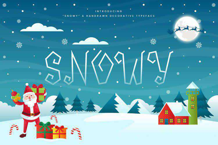 Snowy Decorative Christmas Font