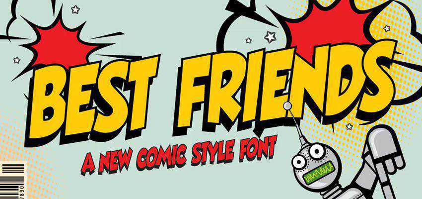 Best Friends comic cartoon font family