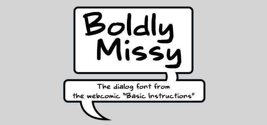 Boldly Missy Comic Handwriting Font free comic cartoon font family