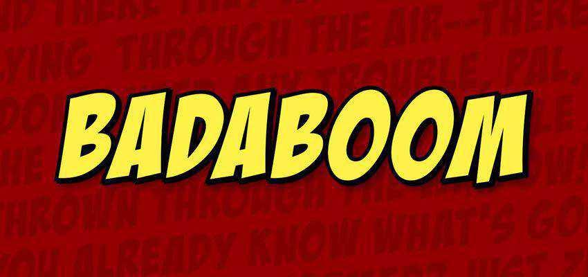 BadaboomComic Font free comic cartoon font family