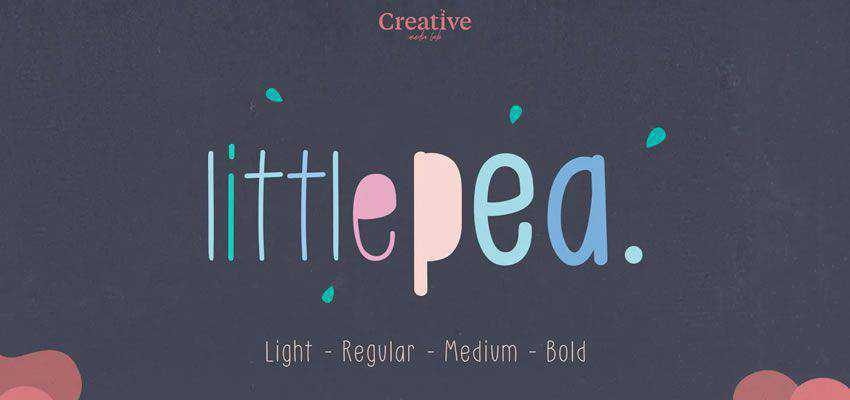 Little Pea comic cartoon font family