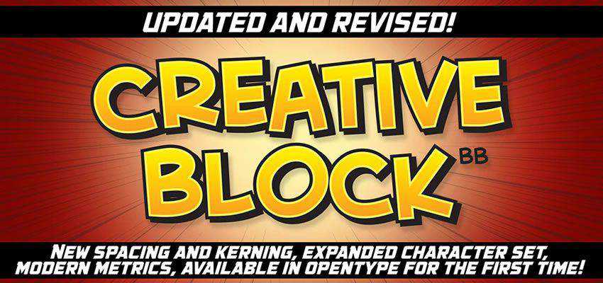 Creative Block Comic Font free comic cartoon font family