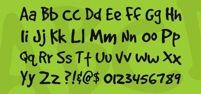 GoodDog Plain Font free comic cartoon font family