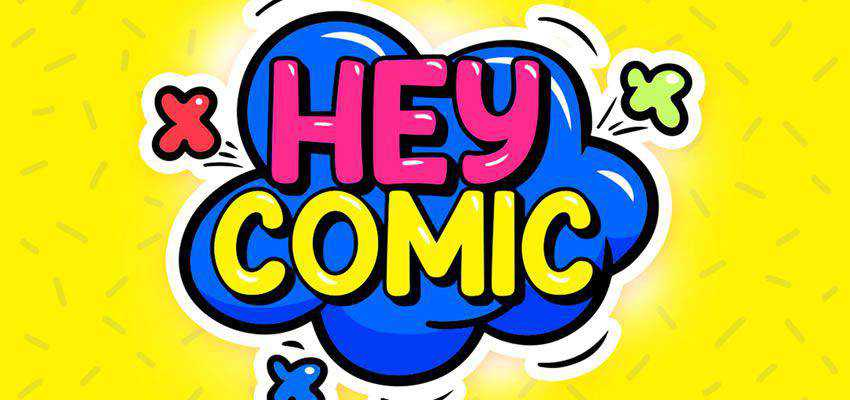 Hey Comic cartoon font family