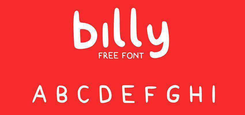 Billy Typeface free comic cartoon font family